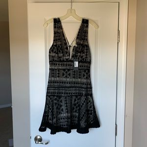 Black and Cream cocktail dress.